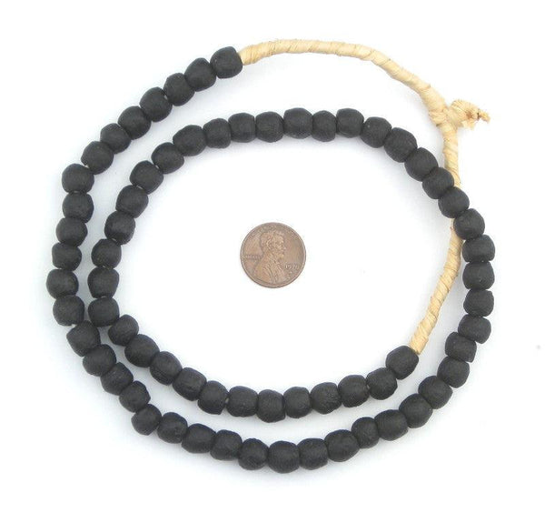 Charcoal Recycled Glass Beads (9mm)