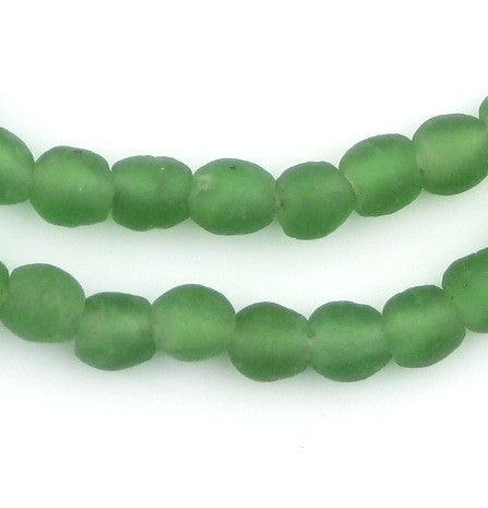 Verdant Green Recycled Glass Beads (9mm) - The Bead Chest