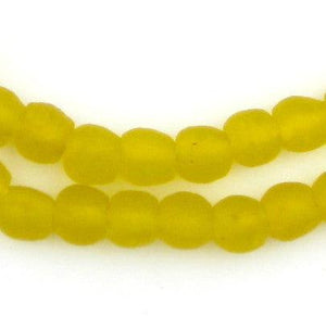 Yellow Recycled Glass Beads (9mm) - The Bead Chest
