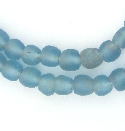 Light Blue Recycled Glass Beads (9mm) - The Bead Chest