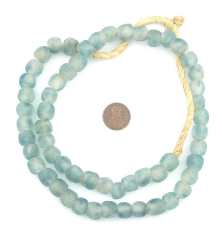 Image of Blue Wave Marine Recycled Glass Beads (11mm) - The Bead Chest