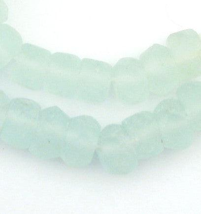 Aqua Clear Recycled Java Glass Beads - The Bead Chest