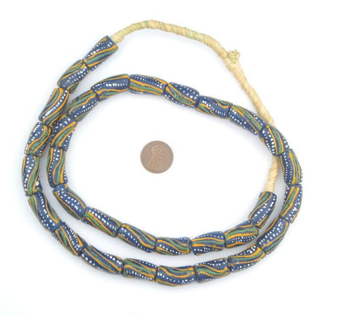 Dotted Krobo Powder Glass Beads - The Bead Chest