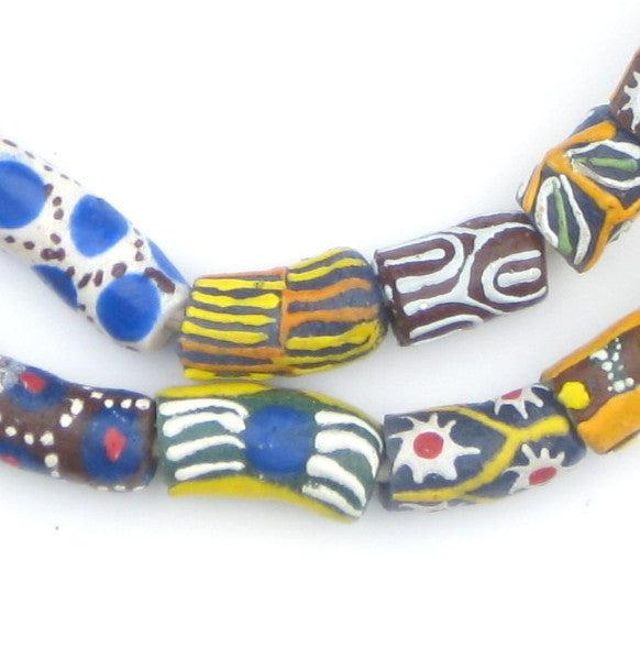 Millefiori Elbow Krobo Beads - The Bead Chest