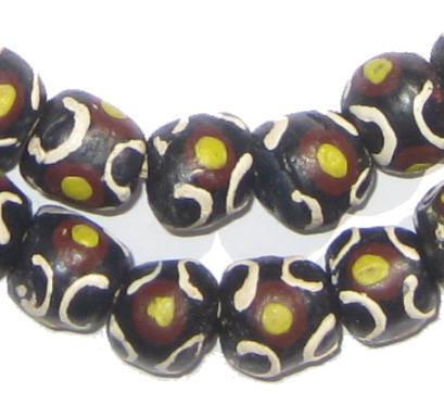 Tiger Krobo Powder Glass Beads - The Bead Chest