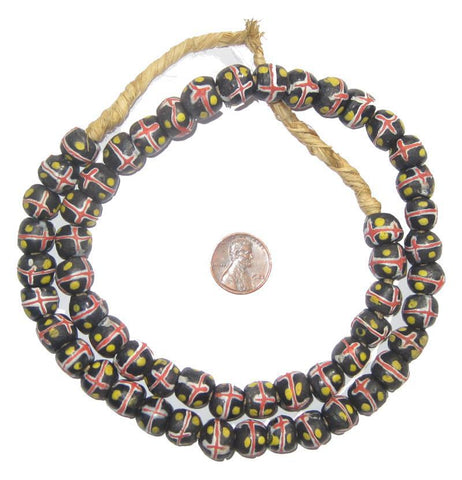 Evil Eye Krobo Powder Glass Beads - The Bead Chest