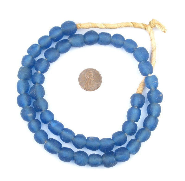 Blue Recycled Glass Beads (11mm)