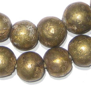 Nigerian Brass Globe Beads (18mm) - The Bead Chest