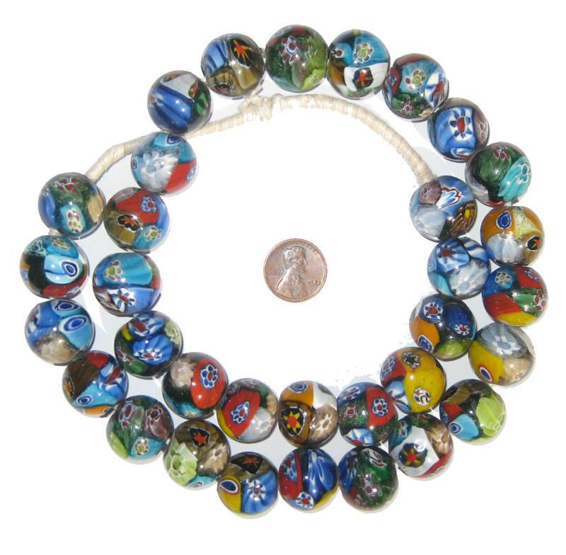 Millefiori Beads (Large, Round) - The Bead Chest