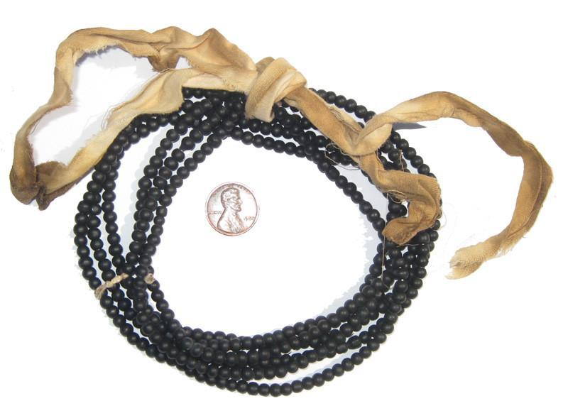 Black Glass Beads (Set of 2) - The Bead Chest