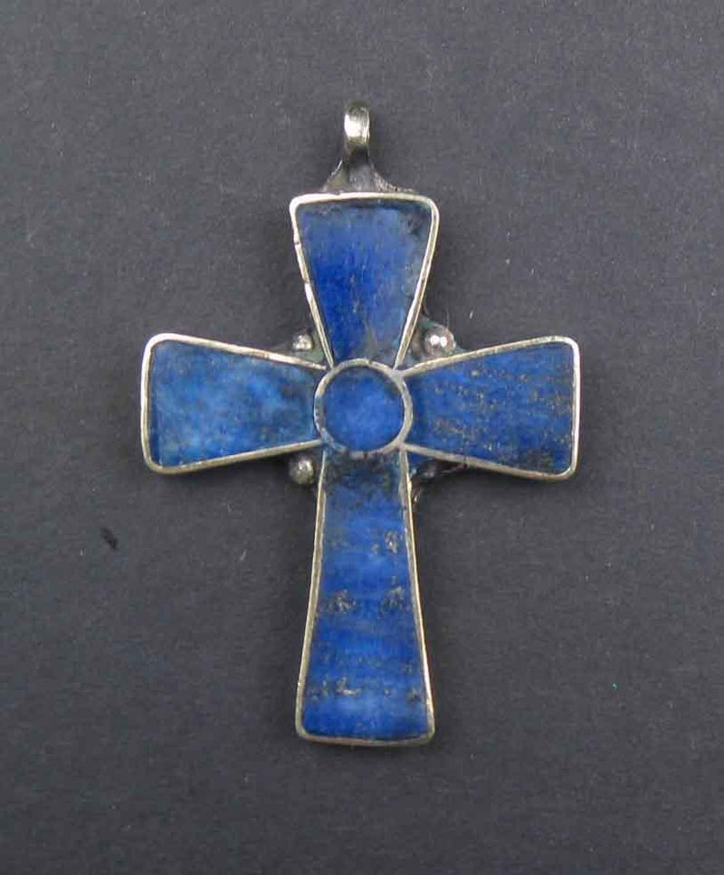 Lapis Lazuli Afghani Cross - The Bead Chest