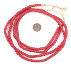 Old Red Kenya Turkana Beads