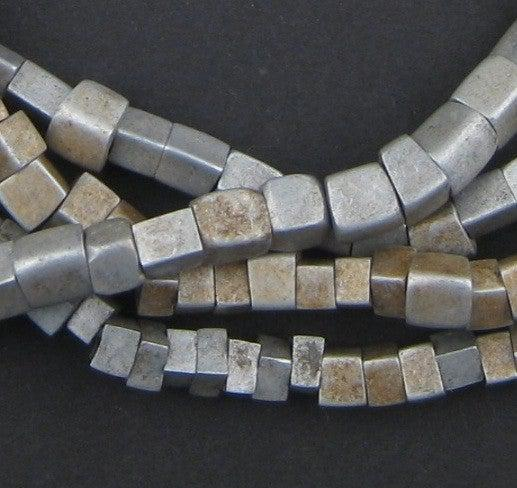 Old Mursi Ethiopian Aluminum Cube Beads - The Bead Chest