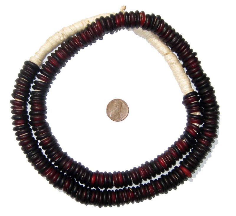 Pomegranate Annular Wound Dogon Beads - The Bead Chest
