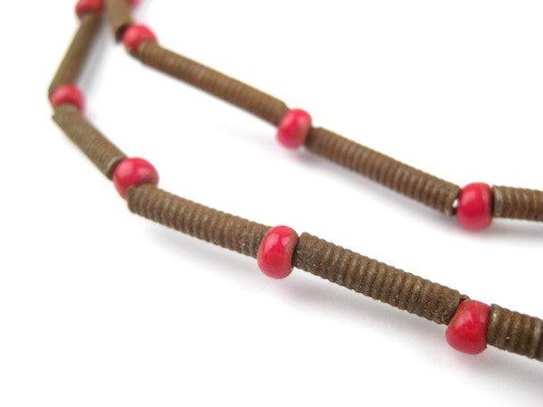 Baule Copper Coil Beads - The Bead Chest