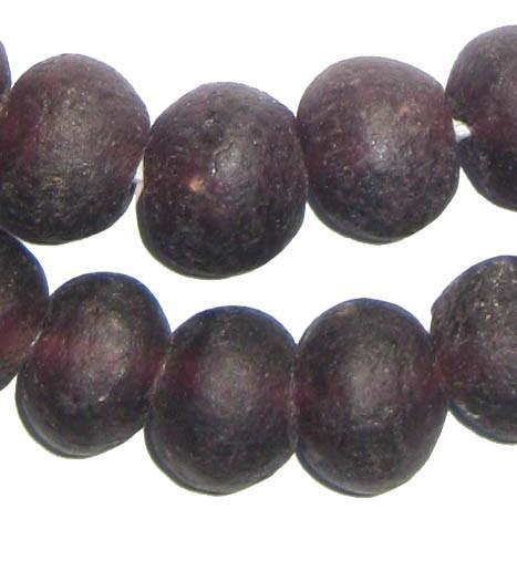 Purple Recycled Glass Beads (18mm) - The Bead Chest
