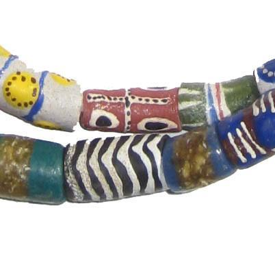 Fancy Krobo Powder Glass Beads - The Bead Chest