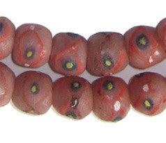 Pink Dotted Krobo Glass Beads - The Bead Chest