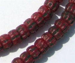 Deep Red Kakamba Prosser Beads - The Bead Chest