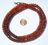 Kakamba Prosser Beads,Orange Color