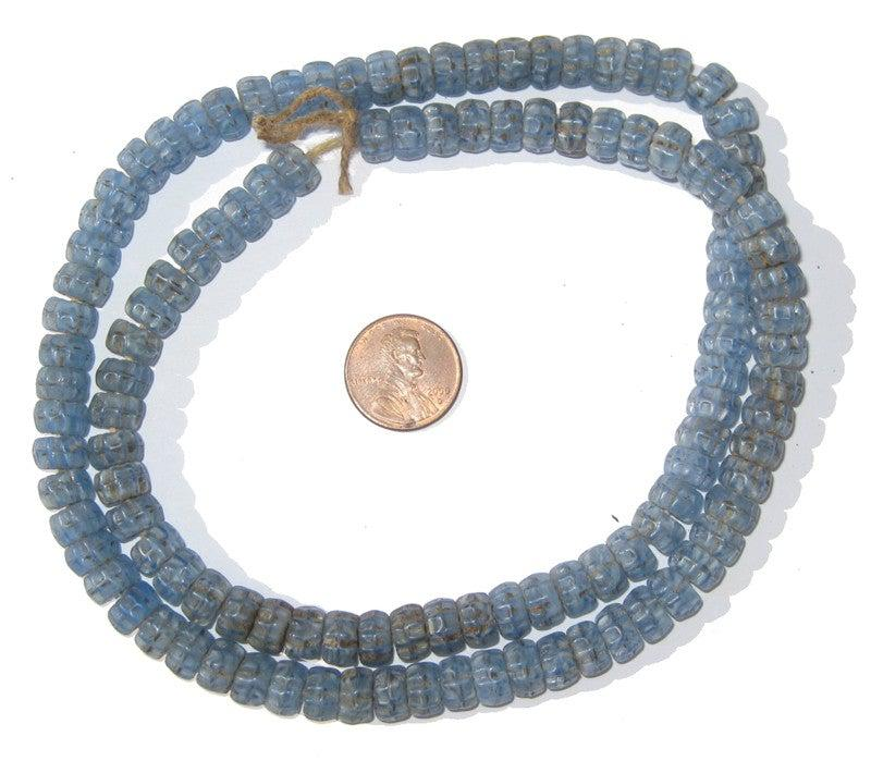 Blue Kakamba Prosser Beads - The Bead Chest
