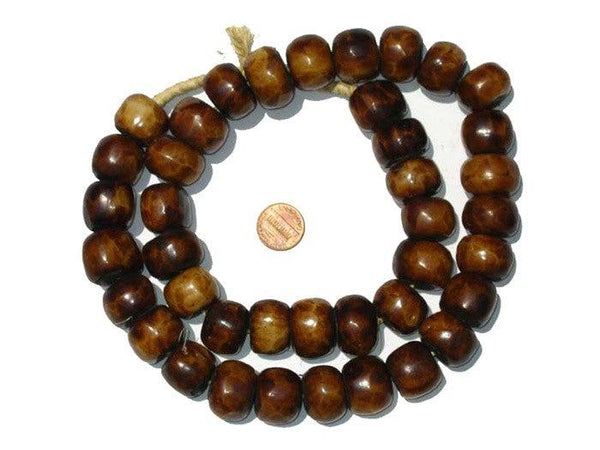 Brown Kenya Bone Beads (Large)