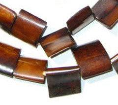 Brown Kenya Bone Beads (Flag Shape) - The Bead Chest