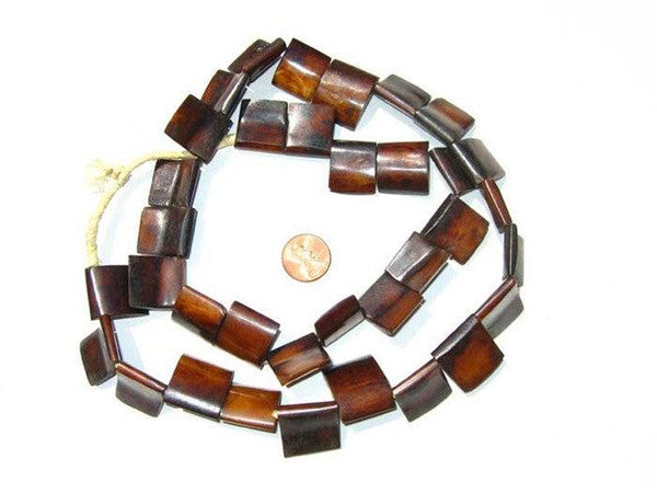 Brown Kenya Bone Beads (Flag Shape)
