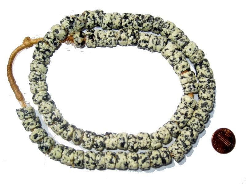 Krobo Fancy Powderglass Beads (Granite) - The Bead Chest