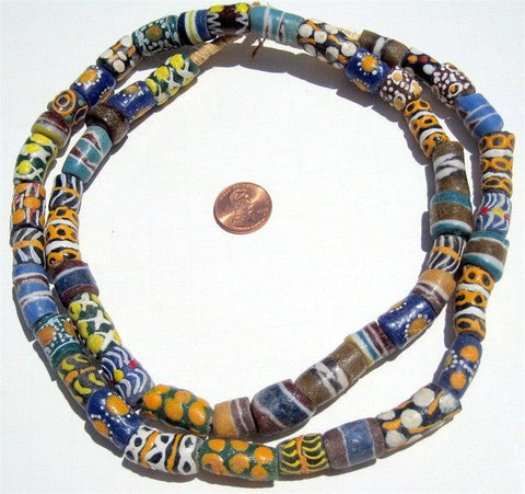 Image of Krobo Fancy Powderglass Beads - The Bead Chest