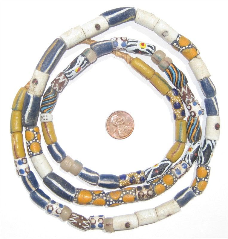 Mixed Krobo Fancy Powderglass Beads - The Bead Chest