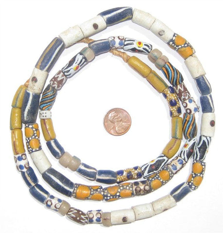 Image of Mixed Krobo Fancy Powderglass Beads - The Bead Chest