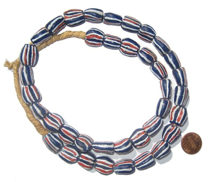 Krobo Fancy Powder Glass Beads - The Bead Chest