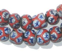 Krobo Fancy Powder Glass Beads