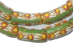 Flower Field Krobo Powder Glass Beads - The Bead Chest