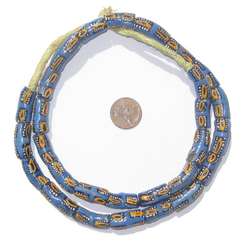 Krobo Fancy Powder Glass Elbow Beads - The Bead Chest