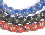Evil Eye Krobo Bundle - Powder Glass Beads (3 strands)