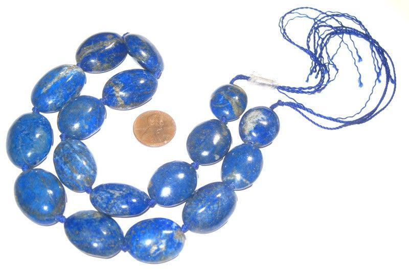 Lapis Lazuli Beads, Oval - The Bead Chest