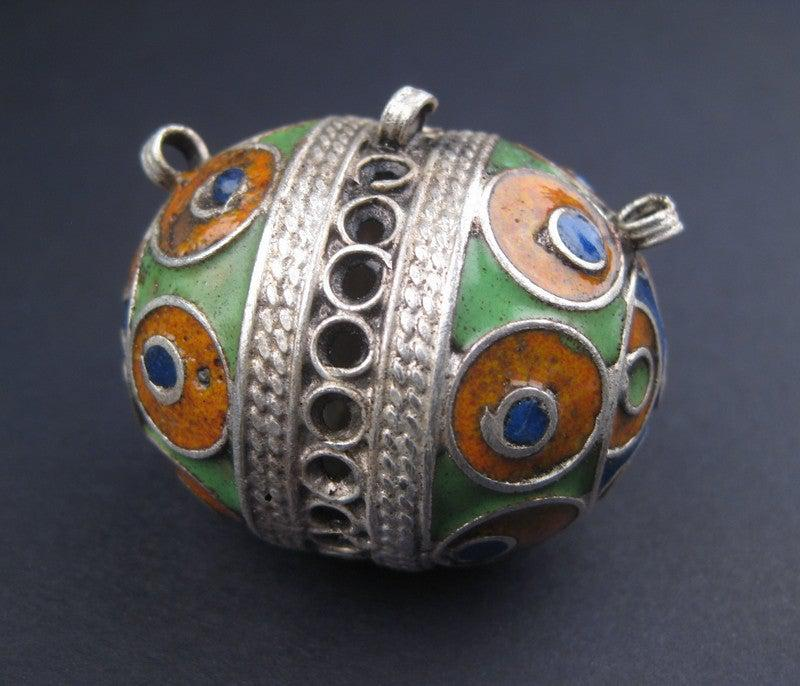 Multicolor Fancy Berber Pendant - The Bead Chest