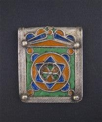 Fancy Enameled Jewish Berber Pendant - The Bead Chest