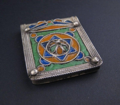 Image of Fancy Enameled Jewish Berber Pendant - The Bead Chest