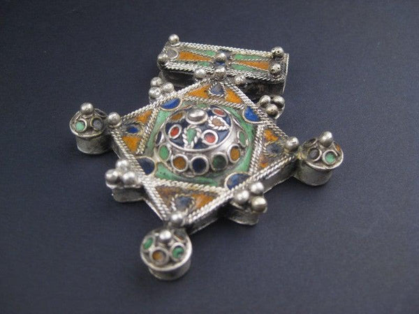 Multicolor Enameled Berber Pendant (Large)