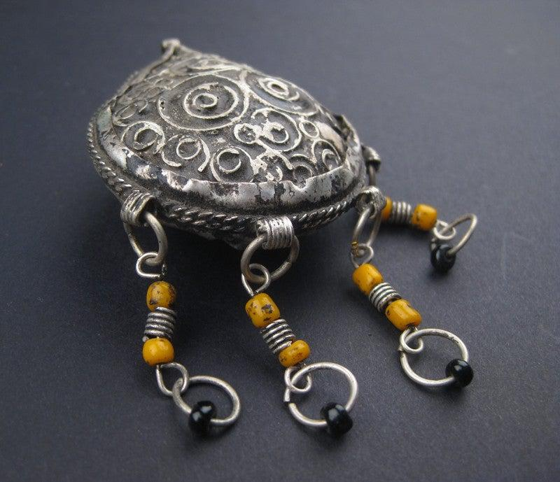 Vintage Fancy Berber Pendant (Small) - The Bead Chest
