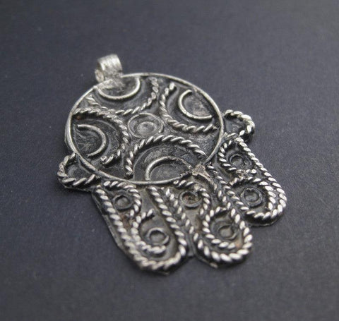 Image of Moroccan Hamsa Pendant - The Bead Chest