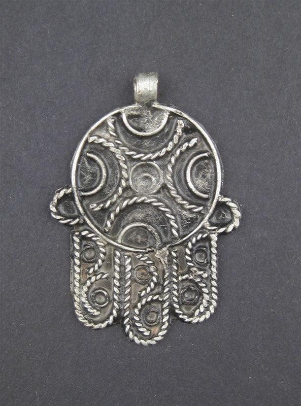 Moroccan Hamsa Pendant - The Bead Chest