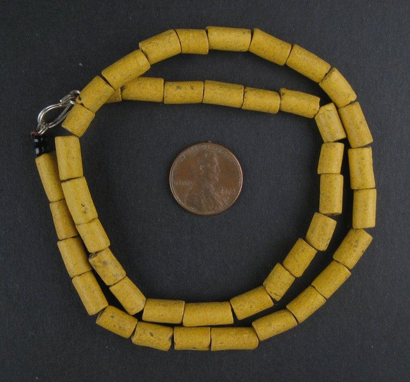 Yellow Moroccan Pottery Beads - The Bead Chest