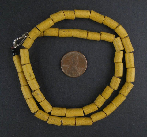 Image of Yellow Moroccan Pottery Beads - The Bead Chest