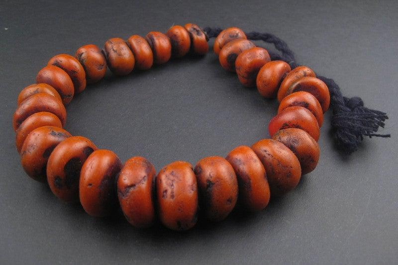 Moroccan Coral Amber Resin Beads - The Bead Chest
