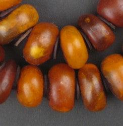 Image of Moroccan Honey Amber Resin Beads (Graduated) - The Bead Chest