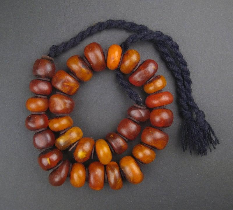 Moroccan Honey Amber Resin Beads (Graduated) - The Bead Chest